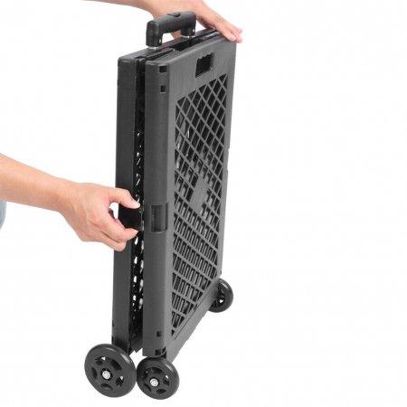 Folding Grocery Basket Storage With 4 Wheels