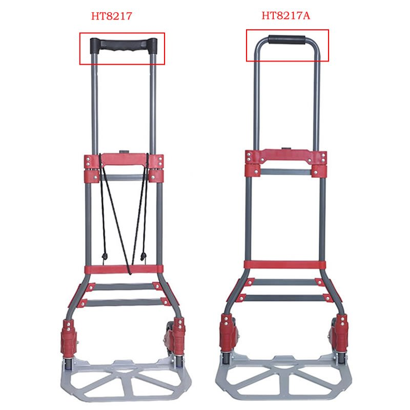 200lbs Portable Steel Folding Hand Truck and Dolly Two-Wheel Luggage Cart