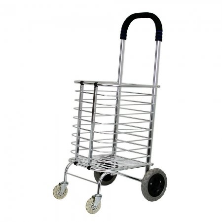 Portable Folding Shopping Basket Cart
